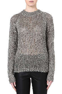 DAGMAR Clem metallic knitted jumper