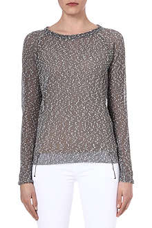 DAGMAR Flecked semi-sheer knitted jumper