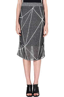 DAGMAR Graphic-print midi skirt