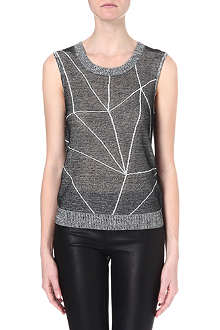 DAGMAR Geometric-print top