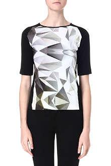 DAGMAR Geometric-print jersey top