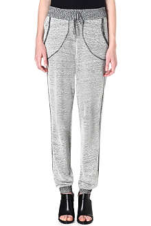 DAGMAR Loose cotton-blend jogging bottoms