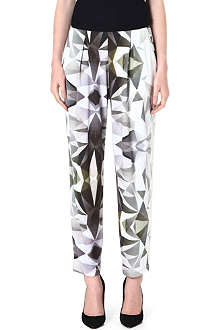 DAGMAR Tapered geometric-print trousers