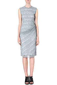 DAGMAR Ruched midi dress