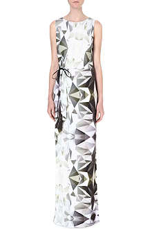 DAGMAR Geometric print maxi dress