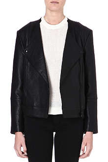 DAGMAR Black leather jacket