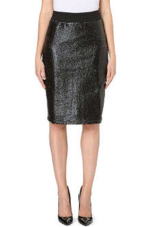 DAGMAR Coated-panel pencil skirt