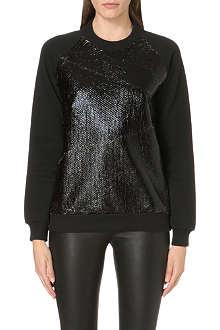 DAGMAR Coated-panel sweatshirt