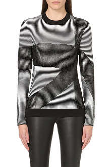 DAGMAR Graphic knitted jumper