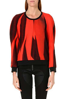 DAGMAR Abstract print crepe sweatshirt