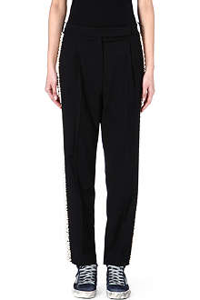 GOLDEN GOOSE Pearl-embellished trousers