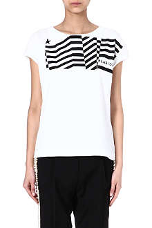 GOLDEN GOOSE Flag-print cotton t-shirt