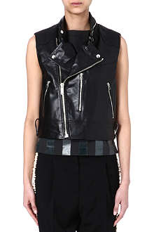 GOLDEN GOOSE Susie leather gilet