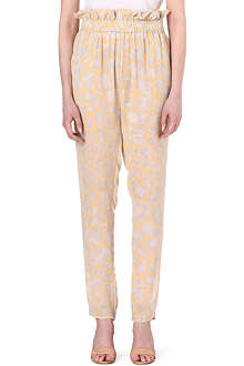 STINE GOYA Palm printed crepe trousers