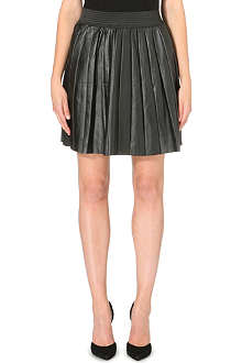 DESIGNERS REMIX Pleated leather skirt