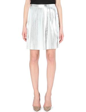 DESIGNERS REMIX Tilt pleated knee-length skirt