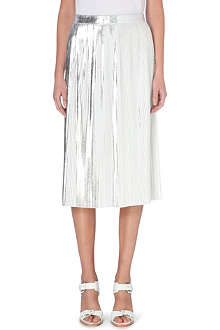 DESIGNERS REMIX Tilt metallic pleated skirt