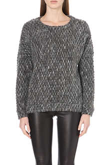 DESIGNERS REMIX Kara textured wool-blend jumper