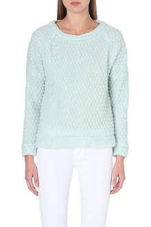 DESIGNERS REMIX Kara textured wool-blend jumper