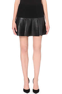 DESIGNERS REMIX Ina metallic wool-blend skirt