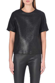 DESIGNERS REMIX Ina metallic wool-blend top