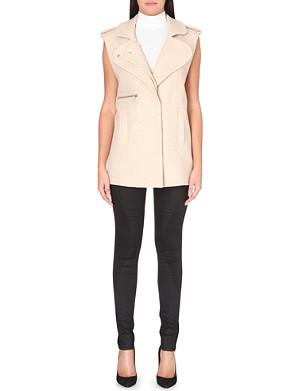DESIGNERS REMIX Wool-blend sleeveless jacket