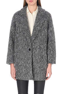 DESIGNERS REMIX Kara textured wool-blend coat