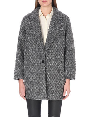DESIGNERS REMIX Kara textured wool-blend coat