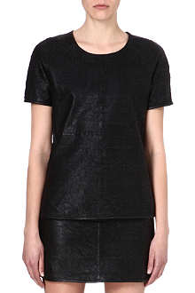 DESIGNERS REMIX Leather perforated top