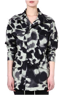 DESIGNERS REMIX Army jacket with abstract print