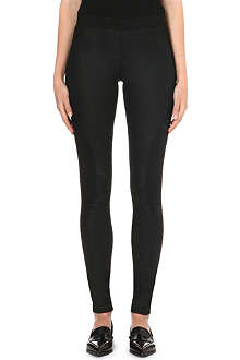 DESIGNERS REMIX Panelled cotton-blend leggings