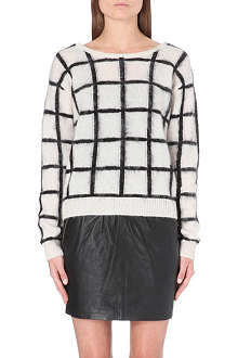 DESIGNERS REMIX Checked knitted jumper