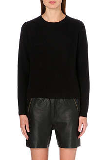 DESIGNERS REMIX Zip-detail ribbed wool jumper