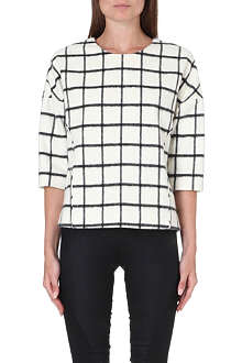 DESIGNERS REMIX Checked woven top