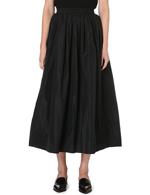 DESIGNERS REMIX Pleated taffeta skirt