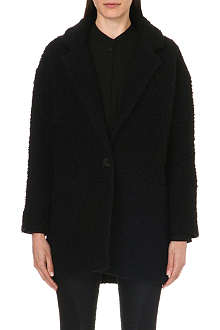 DESIGNERS REMIX Textured wool-blend coat