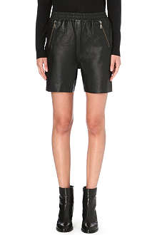 DESIGNERS REMIX Erin leather shorts
