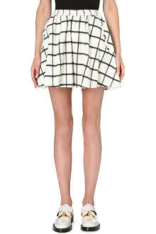 DESIGNERS REMIX Checked woven skirt