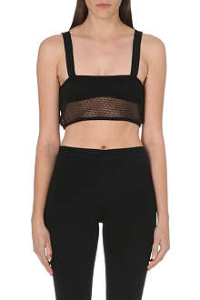 OFF WHITE Perforated bra top