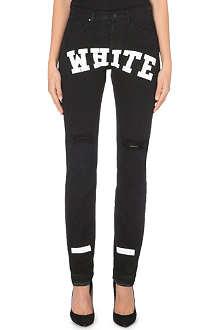 OFF WHITE White logo boyfriend jeans