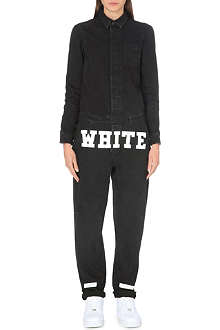 OFF WHITE Logo denim jumpsuit