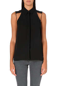 DION LEE Sleeveless chiffon shirt