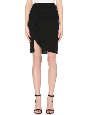 DION LEE Toga pleated crepe skirt