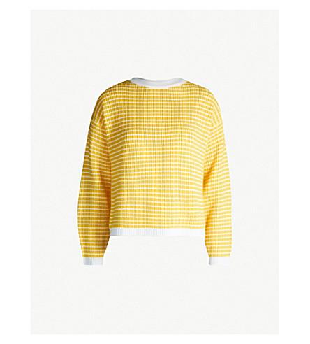 SHRIMPS Charlotte wool-blend jumper (Ylw&cream