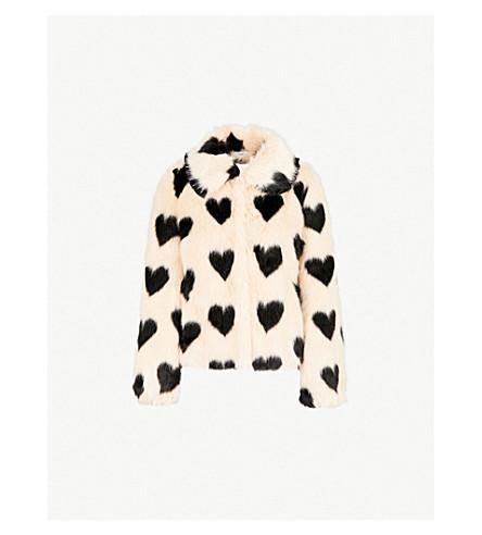 SHRIMPS Cullen faux-fur jacket (Sand black
