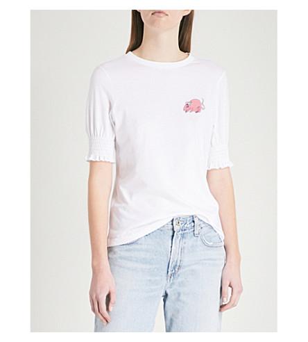 SHRIMPS Donato Mouse cotton-jersey T-shirt (White