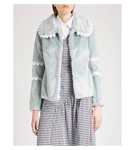 SHRIMPS Ezra faux-fur jacket (Mint