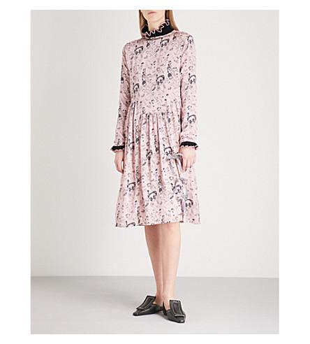 SHRIMPS Heather embroidered silk-satin dress (Rosette+/+black
