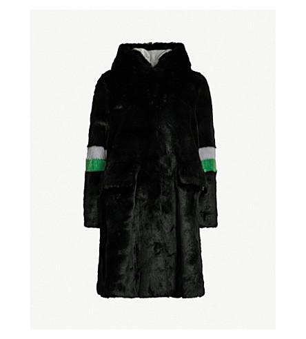 SHRIMPS Heidi hooded faux-fur coat (Black