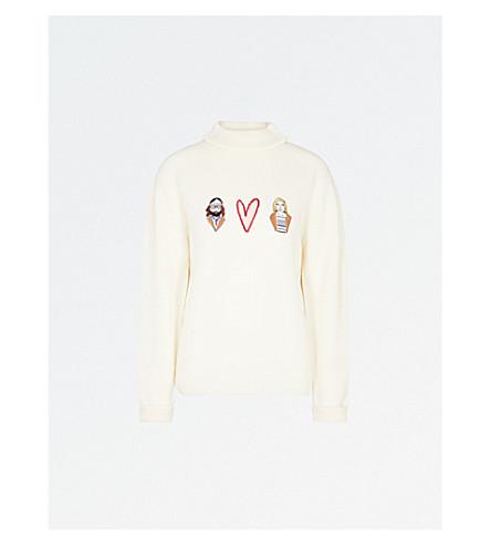 SHRIMPS Hunk Royal wool jumper (Cream